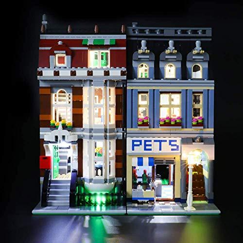 RTMX&kk Kit de Iluminación LED para (Creador Experto en Tienda de Mascotas), Compatible con Lego 10218 Modelo de Bloques de Construcción (NO Incluido en el Modelo)