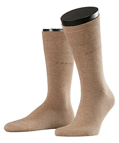 ESPRIT Herren Basic Easy 2-Pack M SO Hausschuh-Socken, Blickdicht, Braun (Nutmeg Melange 5410), 43-46 (2er Pack)