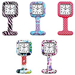 Nurses Week Gift Idea:  Nurse Lapel Silicone Watches (Pack Of 5)