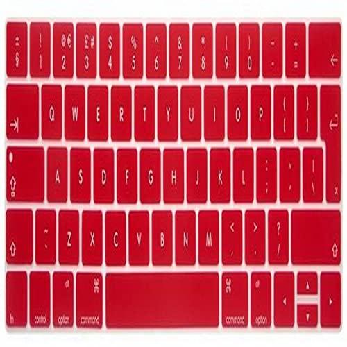 ZHAFG EU/UK. Protezione della Pelle della Tastiera del Silicone del Layout Inglese for PRO 13'15' Retina (Versione 2016 2018) (Size : Red)