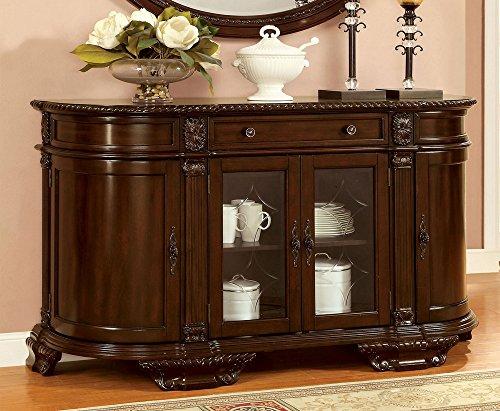 Mejor Baxton Studio Wholesale Interiors Excel Sideboard Storage Cabinet, Dark Brown crítica 2020