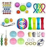 Fidget Toys Pack-Juguetes para aliviar el estrés, surtido de juguetes especiales para regalos de fiesta de cumpleaños, recompensas para el aula escolar, premios de carnaval, día del niño (28 piezas)