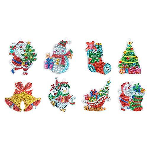 SOBW 4 piezas con cuadro de estrás, llavero, broca con forma especial, mosaico, pintura de diamantes, decoración, colgante para bolso, Ysk9010, Q