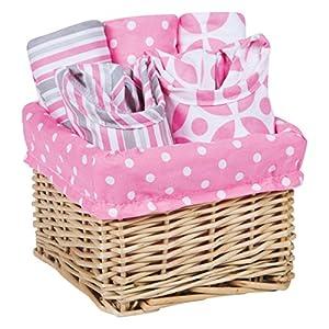 Trend Lab Lily Feeding Basket Gift Set, Pink