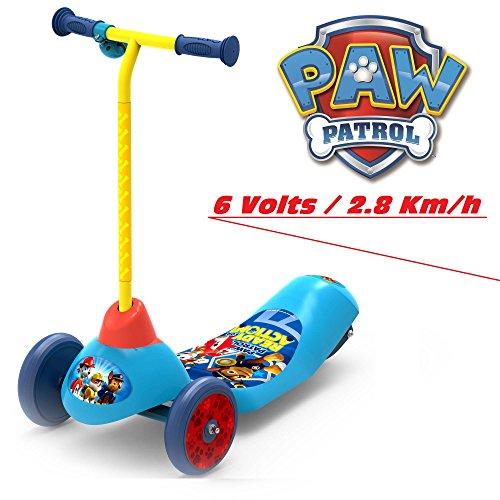 monopattino elettrico per bambini Paw Patrol 162712 - Monopattino Elettrico a 3 Ruote 6V Novita