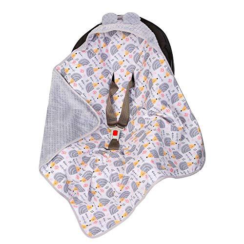 bababy copertina neonato invernale per passeggino, seggiolino auto e lettino, sacco ovetto / 100{3bb360fb042822ae002e9bb7df5e3deb2b653b19ebfdb609eeff6c6c8fd42248} Cotone OEKO-TEX Made in EU/Coperta neonato avvolgente universale multiuso 80x80 (Grigio Porcospino)