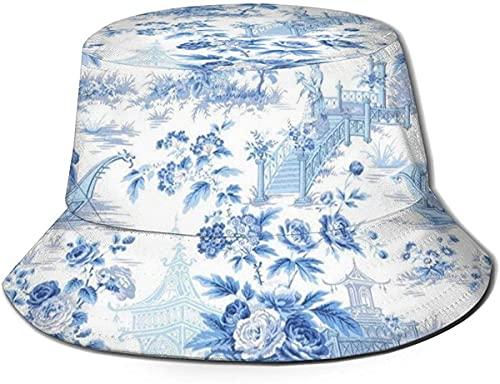 Unisex Outdoor Bucket Hüte breite Krempe Sonnenschutz Fisherman Caps mit Kupferplatte Fassade Tough Element Pink Rose Gold Powder Blue Chinoiserie
