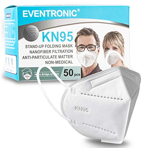 KN95 Face Masks, Eventronic 50 Pack KN95 Masks, Breathable and Soft,...