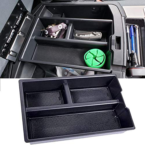 JDMCAR Lower Center Console Organizer Tray Compatible with Dodge Ram 1500 (2009-2018), Ram 2500/3500 (2010-2018), Ram 1500 Classic (2019)(Full Console w/Bucket Seats ONLY)