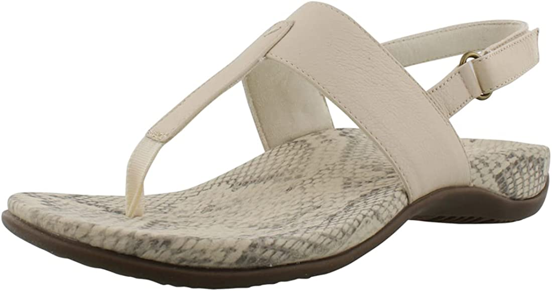 Vionic Women's Rest Tala T-Strap Sandal - Ladies Comforable Flat Sandals that include Three-Zone Comfort with Orthotic Insole Arch Support