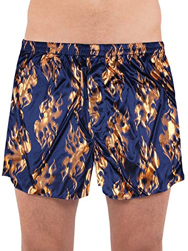 INTIMO Men's Copper Foil Flame Allover Fun Print Boxer Underwear