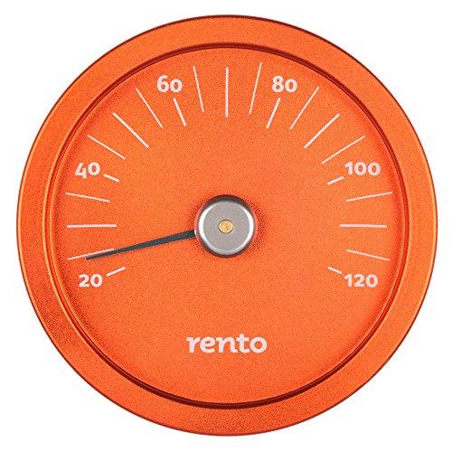 Design sauna thermometer – Oranje (⌀15cm)