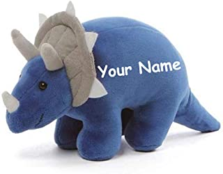 GUND Personalized Chatter Dinosaur Blue Triceratops Dino with Sound Plush Stuffed Toy