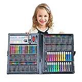 Juego de lápices de colores de lujo, 168 piezas, suministros de arte para estudiantes o niños (38,7 x 30 x 4 cm), color negro