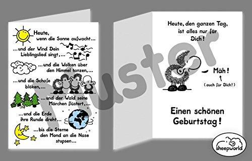 Geburtstagskarte Sheepworld Alles nur für Dich
