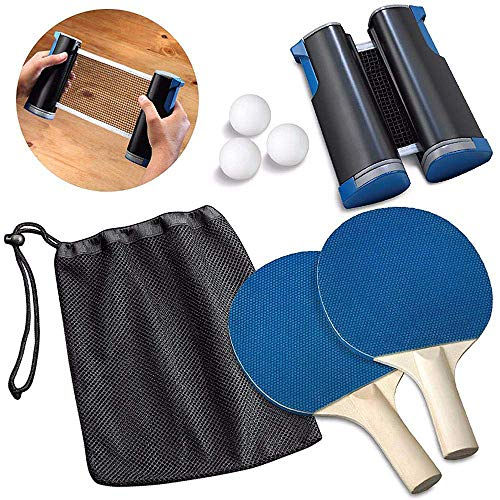 Buy Bargain Bocotous Table Tennis Sets Ping Pong Set Portable Retractable Table Tennis Net Racket Pa...