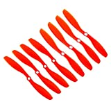 RAYCorp Genuine Gemfan 8045 (8x4.5) Propellers for DJI Phantom 8 Pieces(4CW, 4CCW) Red 8-inch Props Battery Strap