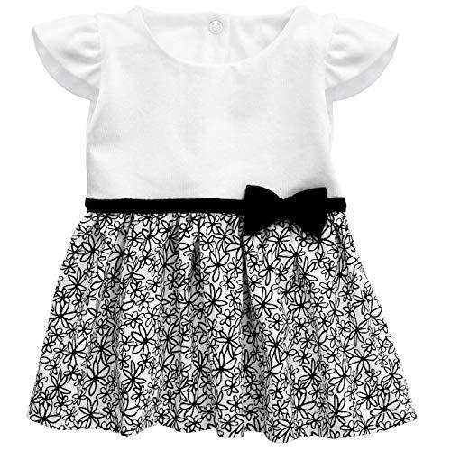 Baby Sweets Baby Mädchen Kleid in Schwarz-Weiß im Motiv Glamour Girl für Neugeborene und Kleinkinder/Kinder-Kleider und Babykleidung für Mädchen in der Größe: Größe 6-9 Monate (74)