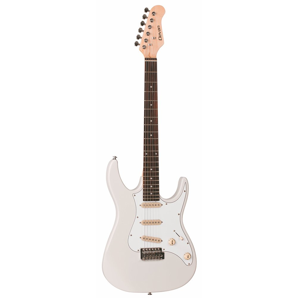 Cheap Clevan 6 String CST-10 Electric Guitar Ivory IV Black Friday & Cyber Monday 2019