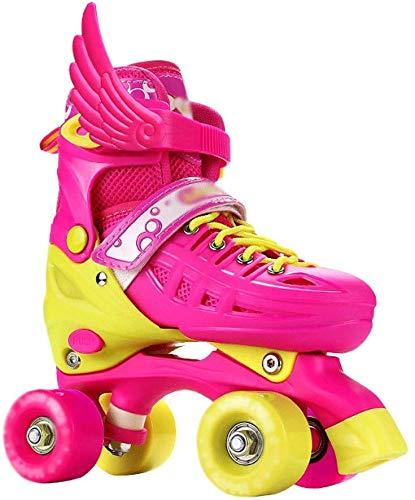 KMILE Patines para Rodillos al Aire Libre Skates Skates Ajustable Botas para niñas Chicos/Azul (Color : Pink, Size : 37EU)