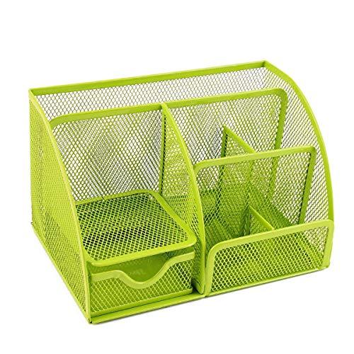 おしゃれにデスク収納 卓上収納ボックス 卓上収納ケース 卓上収納 デスク収納ボックス 文具収納ボックス 鉛筆スタンド ペン立て 収納ボックス デスクオーガナイザー Holoimua (グリーン)