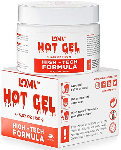 LOMA Hot Cream - Premium Workout Sweat Cream - Hot Cream Gel For Belly Women Men- Heating Cream with Aloe Extract - Lipo Gel and Workout Enhancer for Abdomen and Waist (Original)