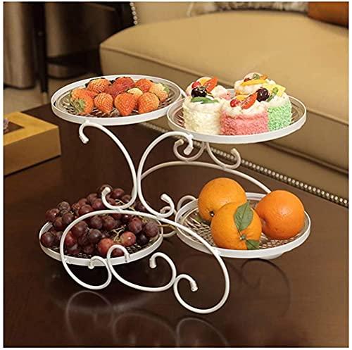 leoye Fruit Bowls Fruit Plate Candy Dish Snack Snack Bowl Dried Fruit Plate Living Room European Modern Fruit Basket Cooyele (Color : White)