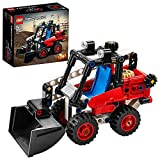 LEGO 42116 Technic Kompaktlader Spielzeug, Bagger oder Hot Rod 2-in-1 Set, Baufahrzeug, Modellbausatz