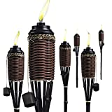 Bamboo Torches; Decorative Torches; Fiberglass Wicks; Extra-Large...