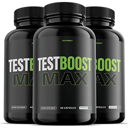 (3 Pack) Test Boost Max for Men Supplement (180 Capsules)