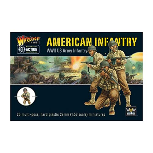 Warlord Games WLWGB-AI-01 Bolt Action American Infantry WWII US Army Infantry, 28 mm