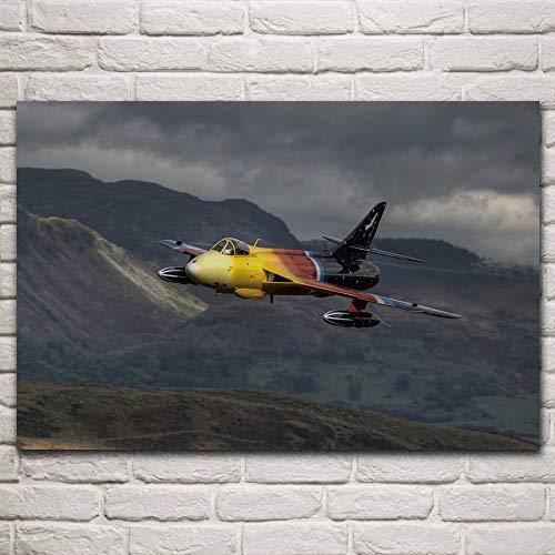 UHvEZ Puzzle in Legno da 1000 Pezzi Combattente di Volo Aereo Cacciatore Hawker Mini Puzzle, bellissime Immagini, Puzzle per Adulti, Regali per Bambini 50x75cm