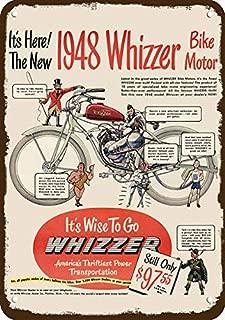 Yilooom 1948 Whizzer Motor Bike Vintage Look Replica Metal Sign 7