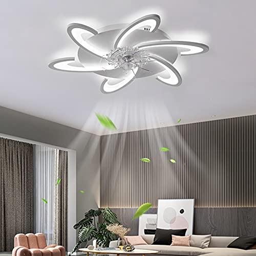 ACCZ Ventilador de Techo, Ventilador Techo LED Regulable con Luz con Control Remoto, Ventiladores de Techo de Velocidad Ajustable con Temporización para Dormitorio, Sala de Estar 3000K-6500K
