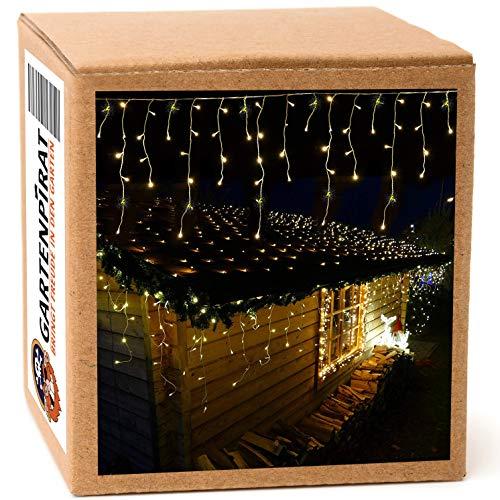 Eisregen 6 m 240 LED warmweiß Lichterkette mit Flashing-Effekt (einzelne blinkende LED)