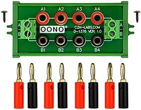 Screw Mount 2 x 4 Position Banana Jack Distribution Module, DC Power Strip