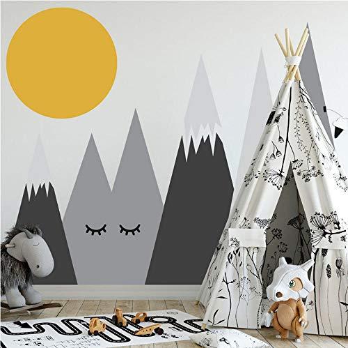 Wandaufkleber Diy Nordic Berg Und Mond Wandtattoos Für Kinder Kinderzimmer Baby Raumdekoration Kindergarten Wandkunst Aufkleber Aufkleber55X110cm