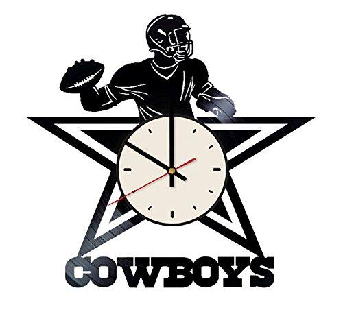 The Cowboys Vinyl Wall Clock Football Team Unique Gifts Living Room Home Decor