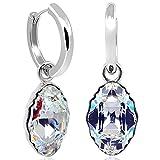 Silber Creolen mit Kristallen von Swarovski® 925 Sterling Silber NOBEL SCHMUCK