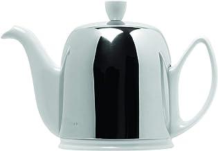 Guy Degrenne Dzbanek do herbaty ze stali nierdzewnej/porcelany na kubki, biały, wlać 6 frędzli