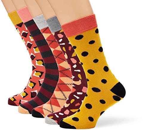 Happy Socks HS by HS Stone 5-Pack Socks Calze, Multicolore (Multicolour 450), 7/10/2019 (Taglia Produttore: 41-46) Uomo