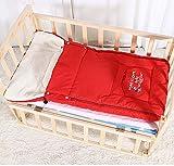 El saco de dormir del bebé engrosará el sobre saco de dormir del cochecito de bebé en otoño e invierno 95 cm, 0-3 años de edad, rojo sacos de dormir para niños bebé