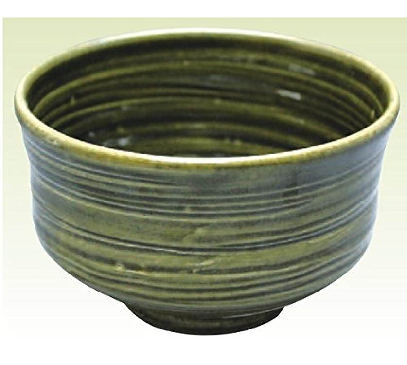 効果的インストラクター息切れ常滑焼 焜清作 抹茶茶碗織部径13×高さ8cm