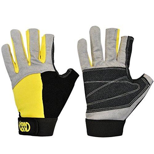 Kong Gants Alex, gris/noir/jaune, XS