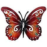 Hemoton Mariposa de Metal Decoración de Pared Al Aire Libre Jardín Patio Arte Decoración Mariposa Estatuilla Animal Colgante Metal Esculturas de Pared Decoraciones Adorno de Jardín para