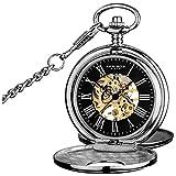 Akribos XXIV AK609SSB Bravura Mechanical Pocket Watch
