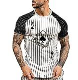 Camiseta para Hombre, Camiseta A Rayas, Ropa De Verano para Hombre, Ropa De Calle, Camisa De Cuello Redondo, Camisetas De Manga Corta con Estampado De A La Moda