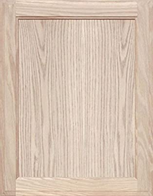 Unfinished Oak Square Flat Panel Cabinet Door by Kendor, 23H x 18W