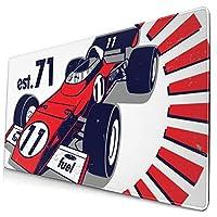 マウスパッド 大型 車 競技 レース スピード 個性 ゲーミング デスクマット かわいい 防水性 耐久性 滑り止め 多機能 超大判 40cm×75cm