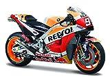 Maisto - 1:18 Moto Honda Marquez 2018, 390666.012